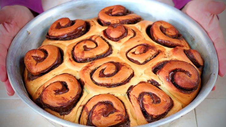 GIRELLE di PAN BRIOCHE alla NUTELLA - Nutella Brioche Rolls Recipe
