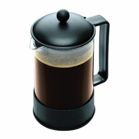 Bodum Brazil 1-1/2-Liter French Press Coffee Maker, 12-Cup, Black http://french-press-coffeemaker.blogspot.com #bodum #frenchpress #coffeemaker