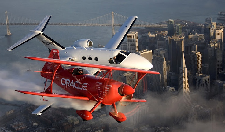 Mismatched Planes Over San Francisco -    Photo by Jessica Ambats
