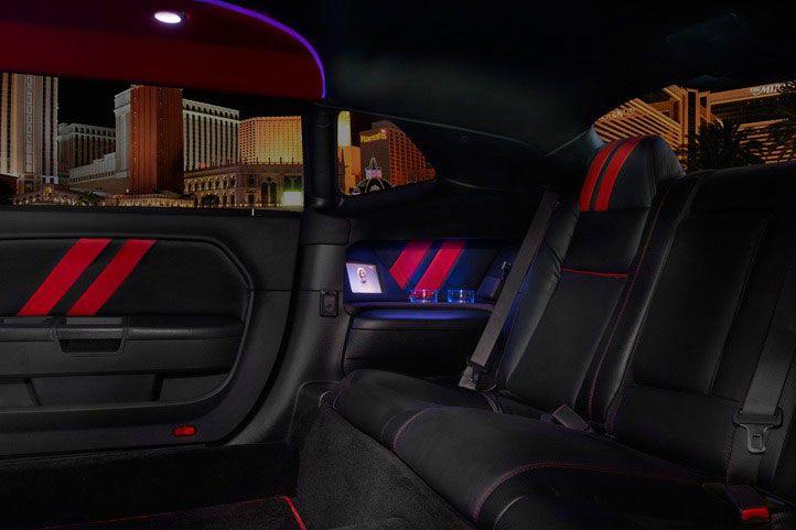 Dodge La Custom Coach Black Dodge Challenger Srt 8 Four Door Stretch Limo Interior Seating