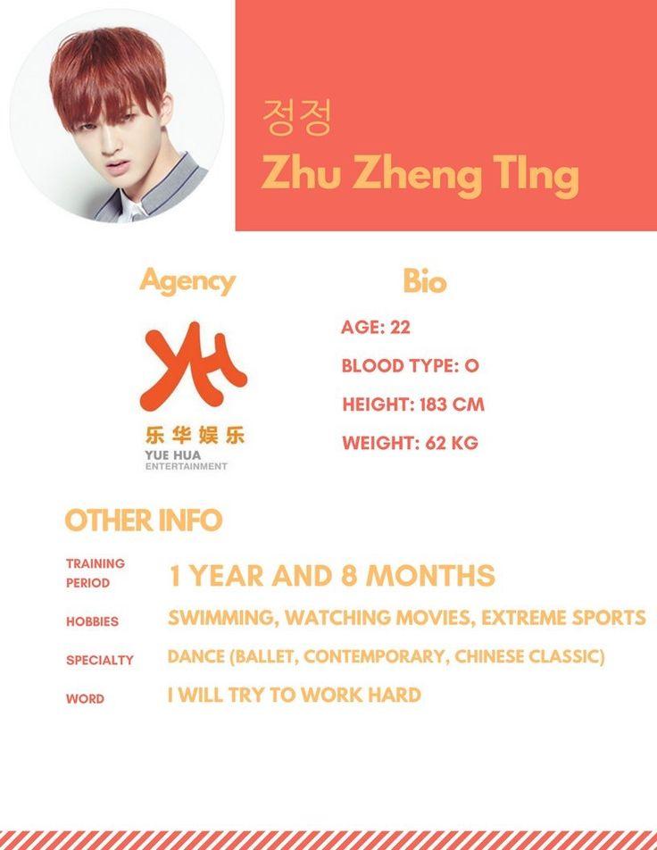 Zhu Zheng Ting profile #Produce101 [credit; mnet101boys - twitter]