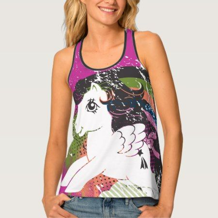 Retro Rainbow Design Tank Top - click/tap to personalize and buy