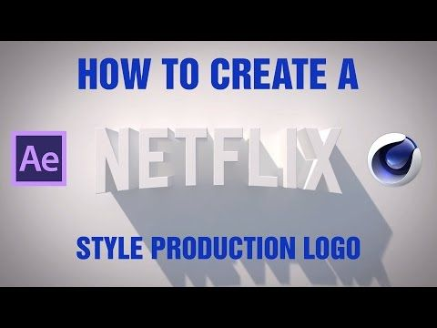How to make the Netflix Production logo in Cinema 4D - YouTube