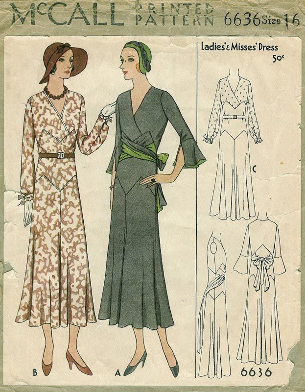 McCall 6636 | ca. 1931 Ladies' & Misses' Dress