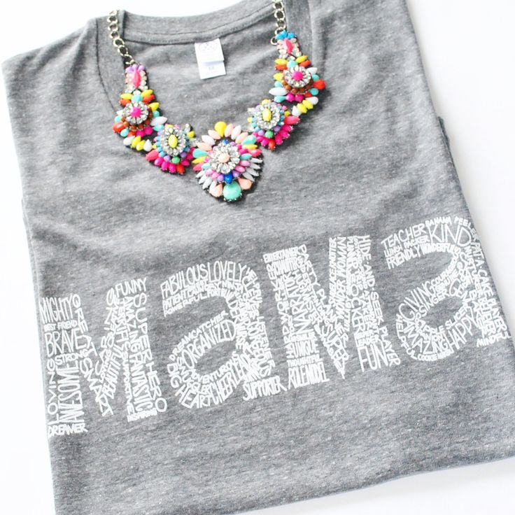 Mama tee - eco heather grey shirt