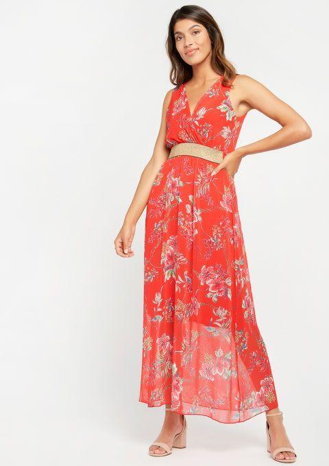87c4651f7b9 Lange jurk, bloemenprint, cache coeur - LolaLiza   Mode in 2019 ...