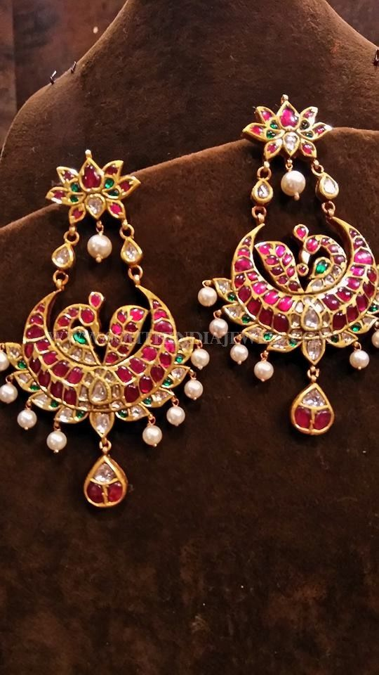 Beautiful Gold Earrings Collections Antique Models Indian