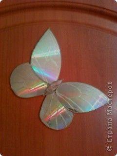 Бабочки из дисков своими руками