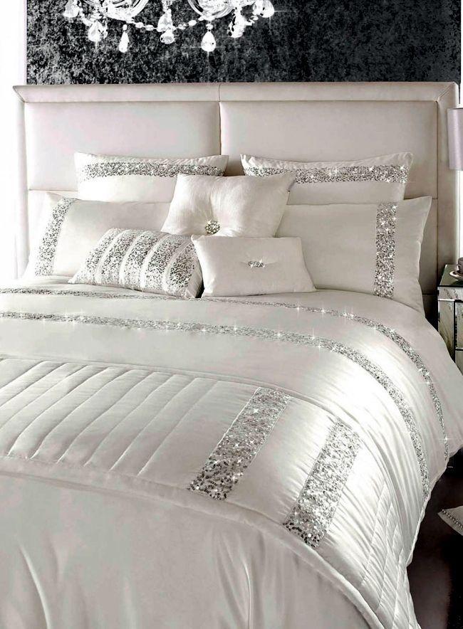 Ropa de cama de lujo Kylie Minogue - raso, lentejuelas y estilo elegante