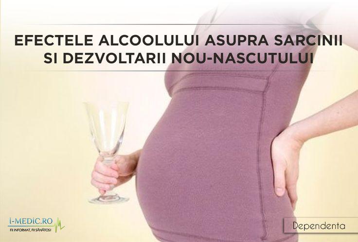 La fel ca in cazul altor substante care creeaza dependenta, precum tutunul sau consumul de droguri, alcoolul are la randul sau efecte devastatoare asupra evolutiei unei sarcini si a dezvoltarii ulterioare a copilului. http://www.i-medic.ro/tutun-alcool-droguri/efectele-alcoolului-asupra-sarcinii-si-a-dezvoltarii-nou-nascutului