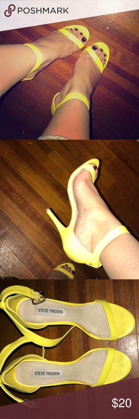Steve Madden Yellow Heels Realove yellow heels Shoes Heels