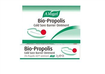 A Vogel Bio-Propolis Ointment A. Vogel Bio-Propolis Cold Sore Barrier Ointment 2g A clinically proven cold sore treatment made from purified propolis extract from Canadian popular trees. It contains a specific spectrum of active i http://www.MightGet.com/january-2017-12/a-vogel-bio-propolis-ointment.asp