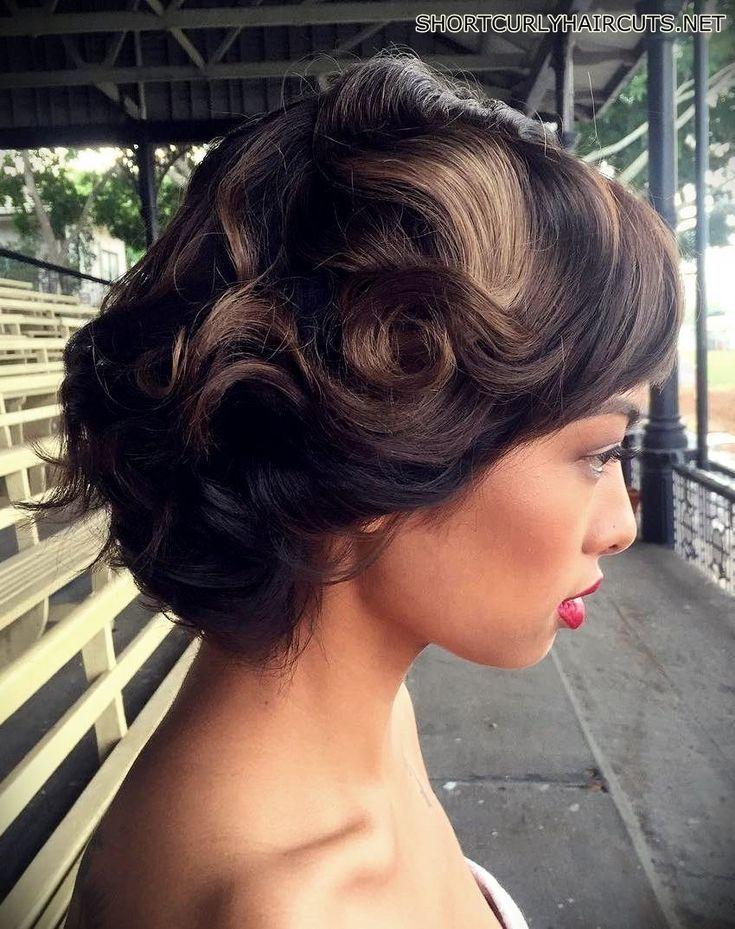 #CURLY #Frisuren #Short #Vintage Curly Hairstyles #Hochzeit Short Curly Hairsty ... -