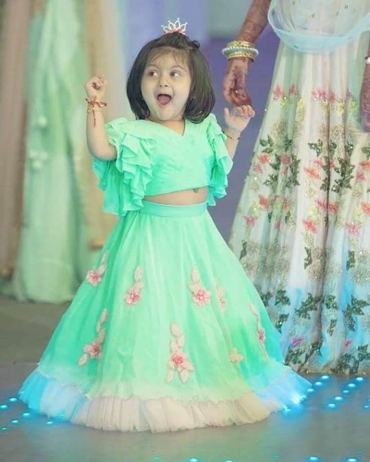 9634852a8618a2 Kids crop tops | kids in 2019 | Kids gown, Kids frocks, Baby lehenga