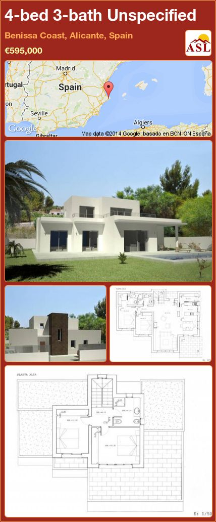 4-bed 3-bath Unspecified in Benissa Coast, Alicante, Spain ►€595,000 #PropertyForSaleInSpain