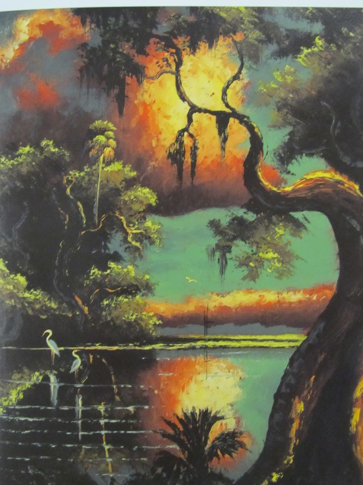 Willie Daniels painting from The Highwaymen: Florida's African-American Landscape Painters by Gary Monroe. Florida Collection, ND1351.6 .M66 2001.