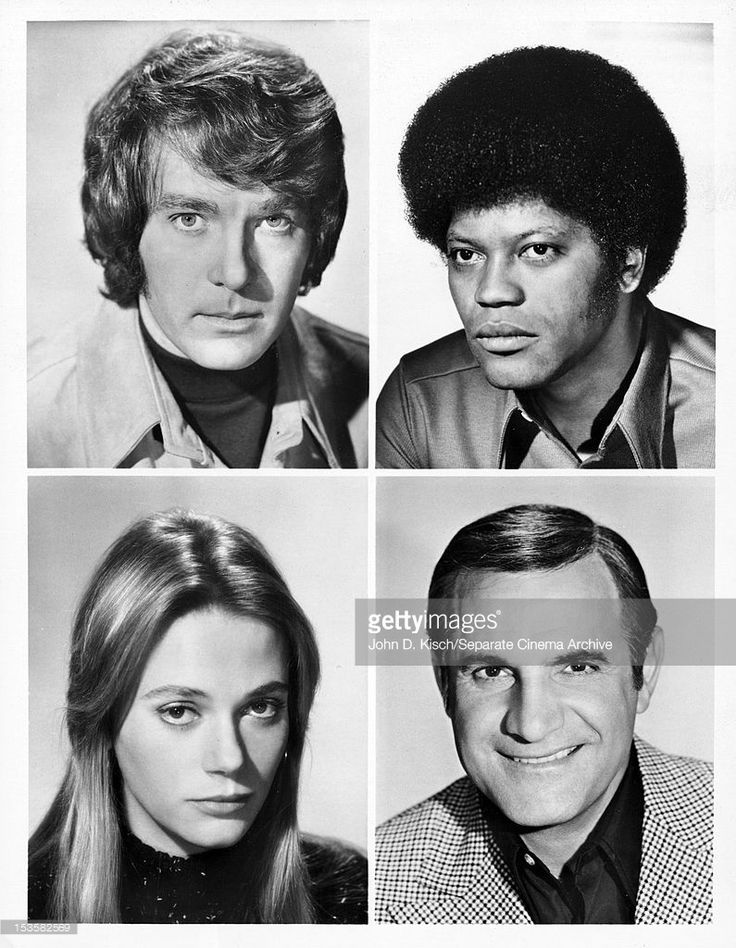 The mod squad cast with Michael Cole as Pete Cochran, Clarence Williams III as Linc Hayes and Tige Andrews as Cpt  Adam Greer