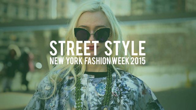 Street Style during New York Fashion Week in the snow. Music by ADB