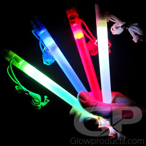 7 Inch Battery Operated Glow Sticks - https://glowproducts.com/us/7inch-led-light-sticks