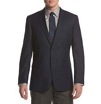 Calvin Klein Men's Windowpane Slim Sport Coat