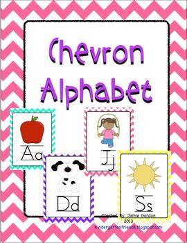 Chevron Alphabet Posters - Multi Color