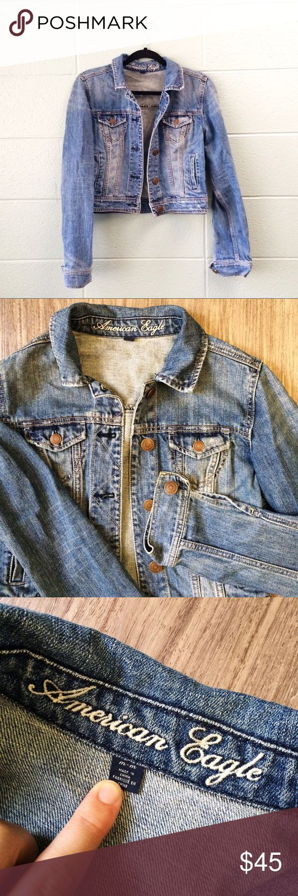 ✨SALE✨ AMERICAN EAGLE Jean Jacket Women's Medium Jean Jacket by American Eagle only worn a couple of times! In mint condition! ☺️ American Eagle Outfitters Jackets & Coats Jean Jackets