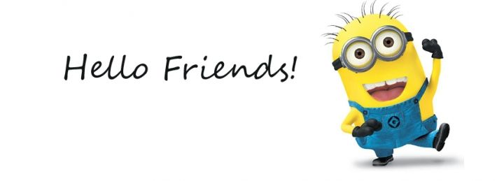 Minion Hello Friends Facebook Covers | FB covers ...