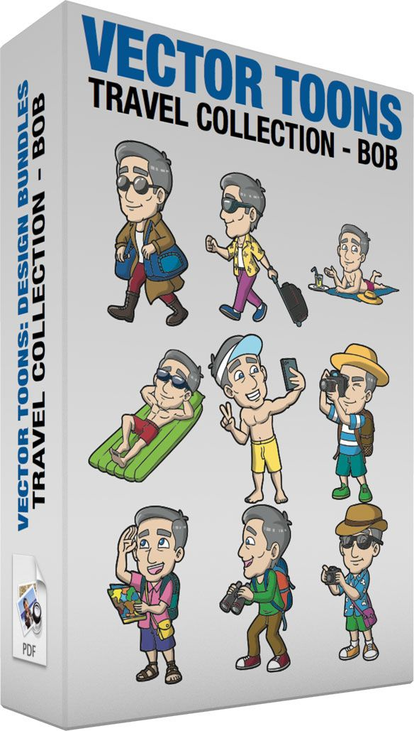 Travel Collection Bob :  Bundle of images includes the following:  A Stylish Mature Male Tourist Gets Ready For His Vacation A mature man with gray hair wearing a white shirt magenta red pants under a khaki brown trench coat brown boots round rimmed black sunglasses smirks while carrying two blue bags over his shoulders as he walks away  A Mature Male Tourist Arriving At The Airport For A Holiday A mature man with gray hair wearing a white shirt under a yellow unbuttoned shirt with collar…