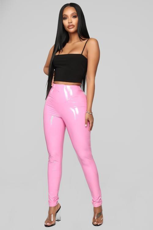 56f1b176662 Brand Spanking New Vinyl Pants - Pink  29