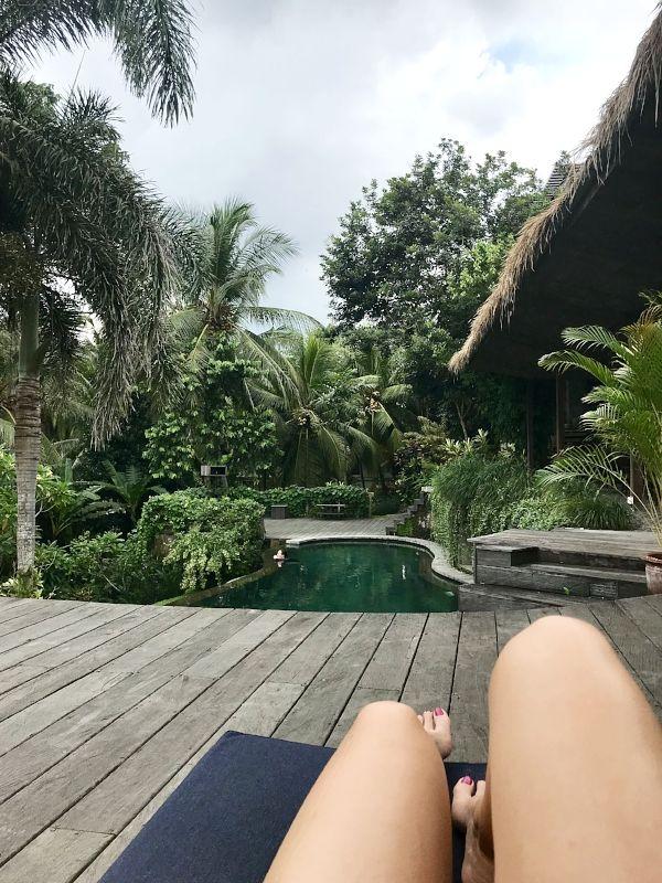 Pool views at Soulshine Hotel + Yoga Retreat in  Ubud Bali Indonesia | Bali Travel Tips | Temples in Bali | Bali Yoga Retreat | Exploring Bali Indonesia | Things to do in Bali | Ubud Travel Tips | Yoga in Bali | Hotels in Bali | Retreats in Bali