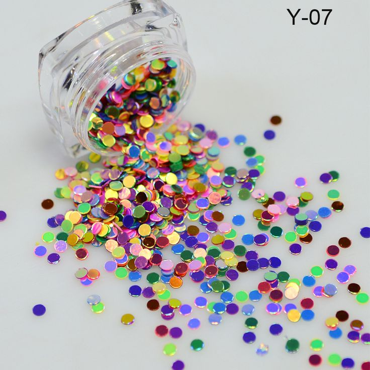 2g New Design Round Shape Nail Glitter Powder Dust 3D Nail Art Decorations Nail Art Bottle Tip Set DIY Tools Y01-07