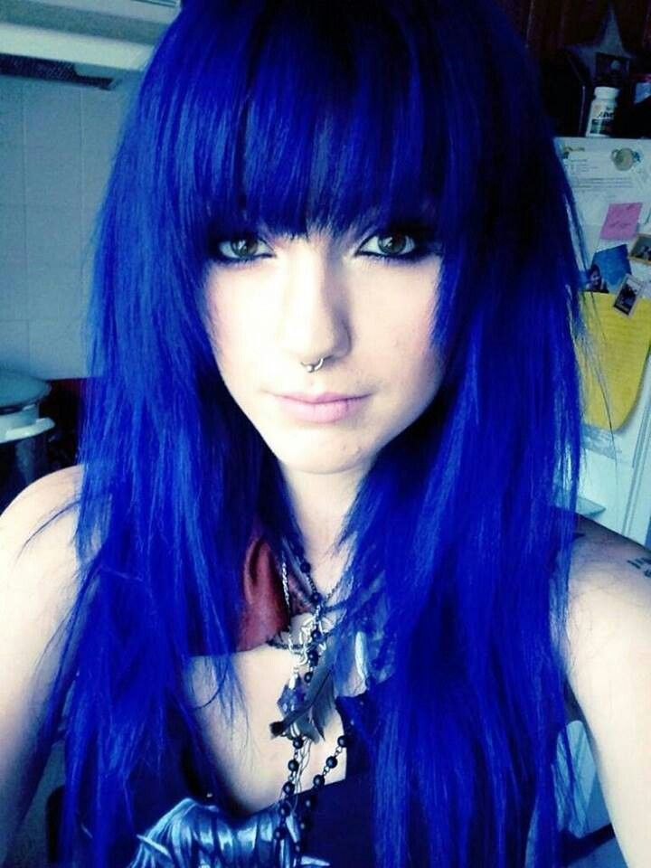Black And Blue Scene Hair Leda 17 Best images about L...