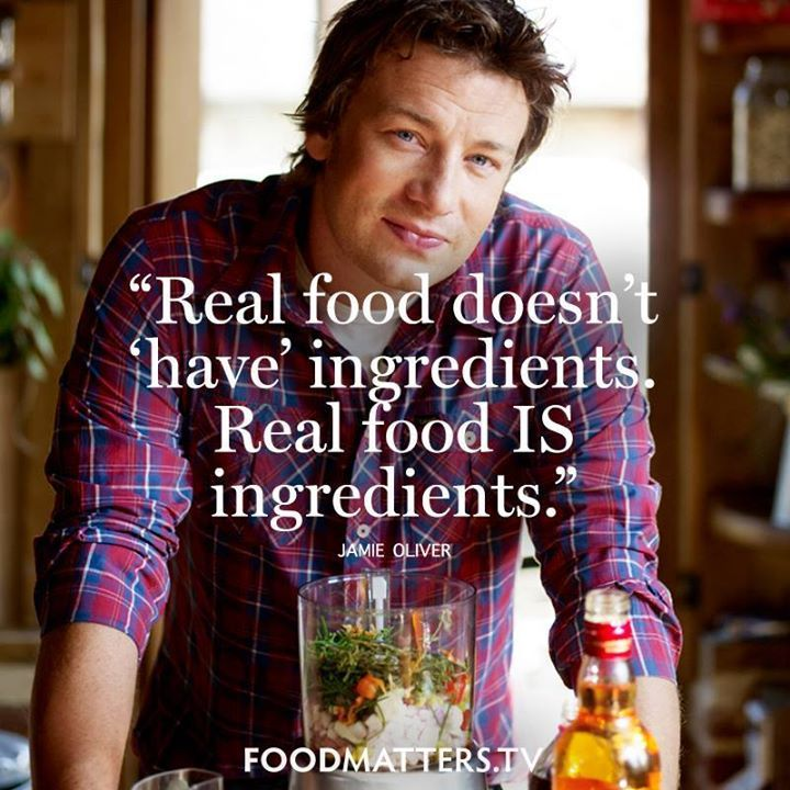 Real food is where it's at!  www.hungryforchange.tv