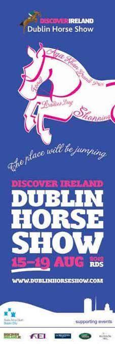 Dublin City Street Lamp Banners for the Dublin Horse Show, RDS 2012  #civicmedia2012