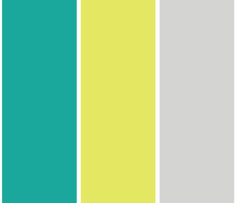 wide stripes yellow and turquoise fabric by ravynka on Spoonflower - custom fabric