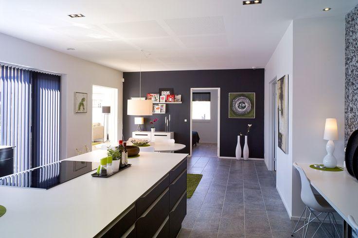 Køkken: futura i sort og modehvid. bordplade i 12 mm corian ...