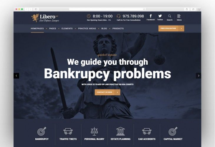 Lawyer Wordpress Themes For Law Firms Private Attorneys 2019