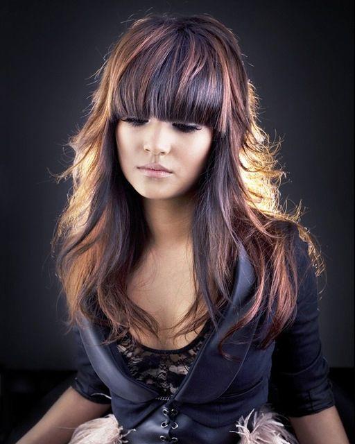 cheveux brun avec meches rousses - Recherche Google