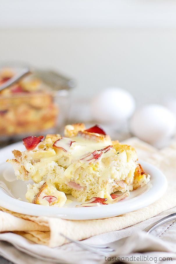 Eggs Benedict Strata - Taste and Tell