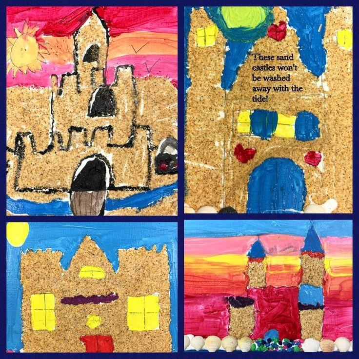 "Kids at North Merrick Public Library created these fantastic sand castle ""paintings"" on canvas 🏖 #libraryartsprograms #librarysummerfun #librarykidsprograms #libraryteenprograms #sandcastles #northmerrickpubliclibrary #libraryprograms"