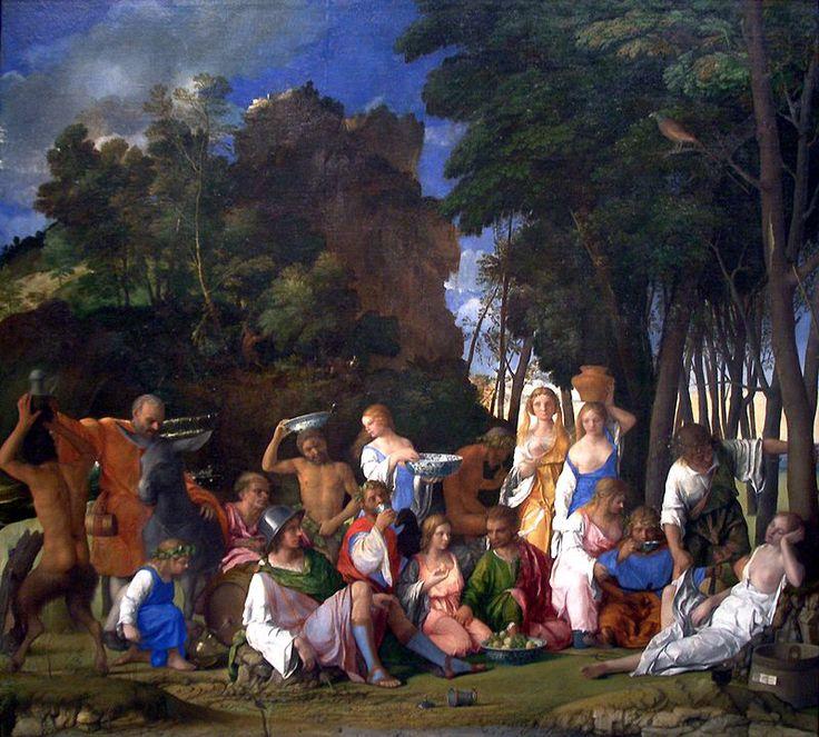 """GIOVANNI BELLINI. """"Il Festino degli dei"""". olio su tela. 170x188 cm. 1514. National Gallery of Art, Washington"""