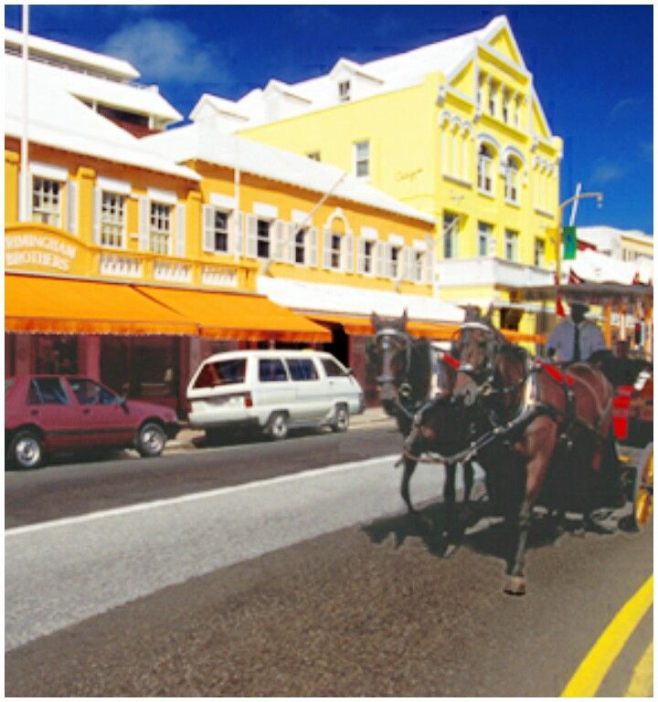 The colourful shops of Front Street, Bermuda. Pin provided by Elbow Beach Cycles http://www.elbowbeachcycles.com +Bermuda #Bermuda