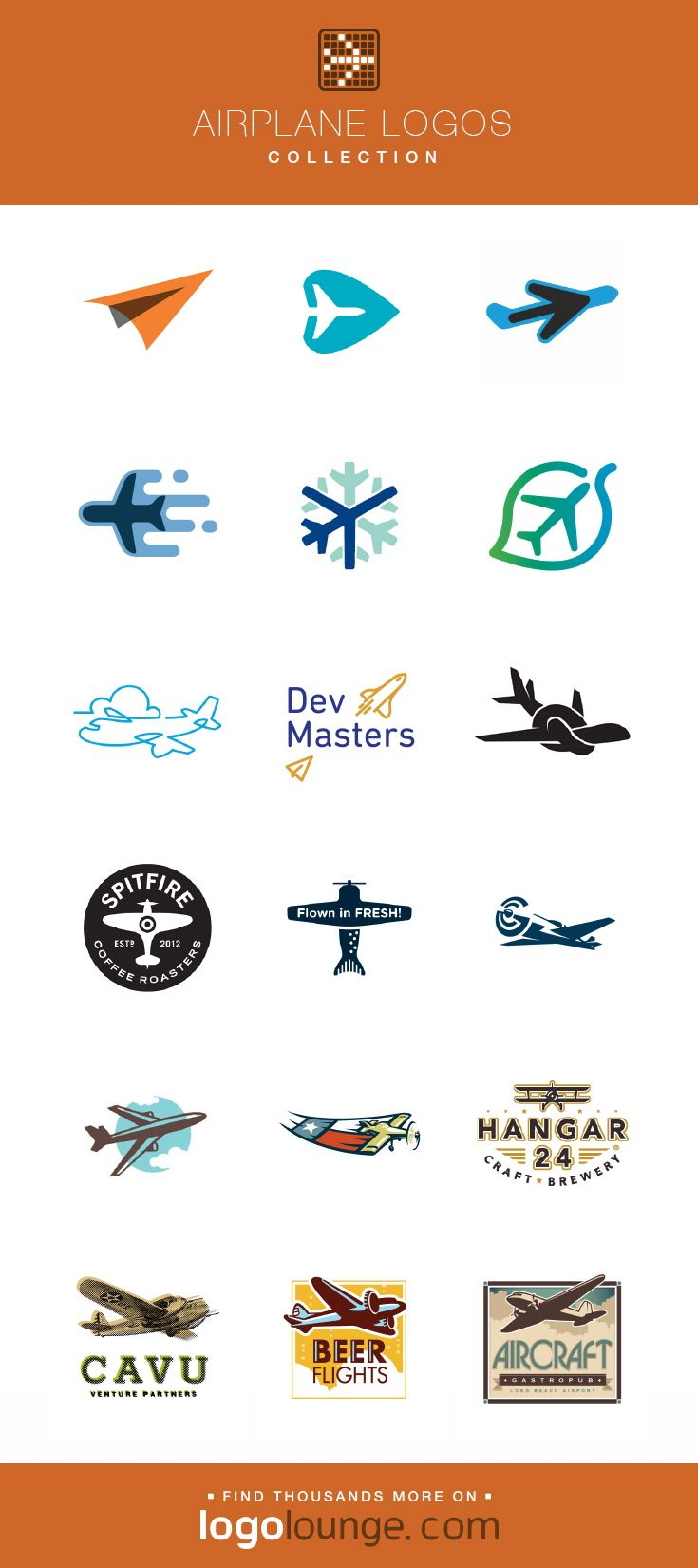 Logo Collections Airplane Vector Logo Design Plane Wings Air Flight Propellor Icons And Symbols Log Vector Logo Design Airplane Vector Logo Collection