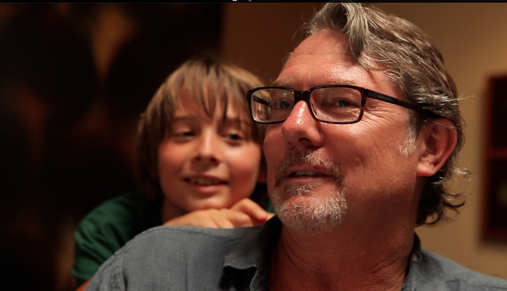 Featured LA artist Shane Guffogg with son Neville. From Epicenter, a Film by Pat Becker