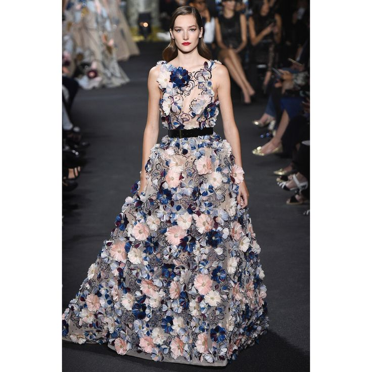 Elie Saab. #floral #dress #couture #fashion #Vogue #VogueRussia #couture #fallwinter2016 #ElieSaab #VogueCollections