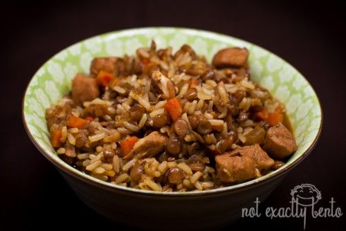 Chicken & Lentils with Rice | Get in my belly. | Pinterest