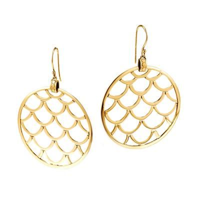 Round Earrings In 18kt Gold From John Hardy S Naga Collection