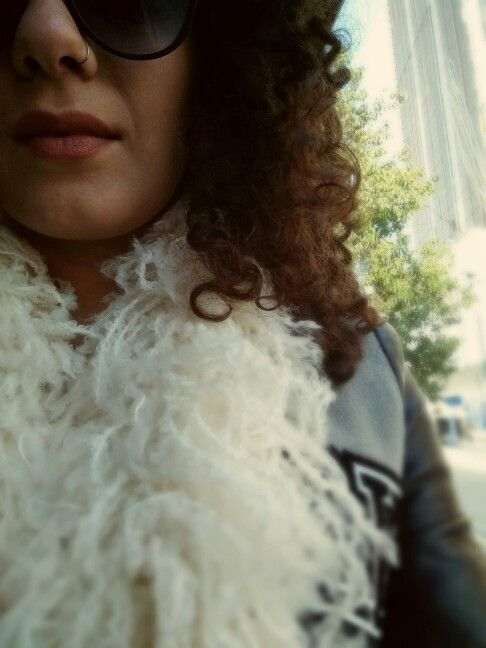 CottonCandy White Scarf designed by eva.s