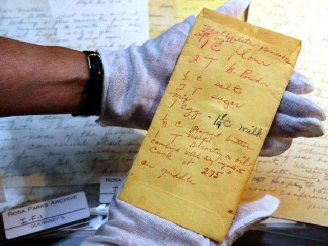 Rosa Park's handwritten recipe (Photo: Guernseys)