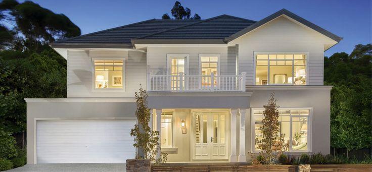 Best 25 house facades ideas on pinterest modern house for Hampton style house designs